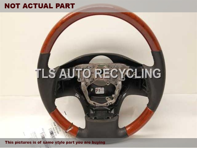 2011 Lexus RX 450H Steering Wheel. GRAY,LEA,WOOD