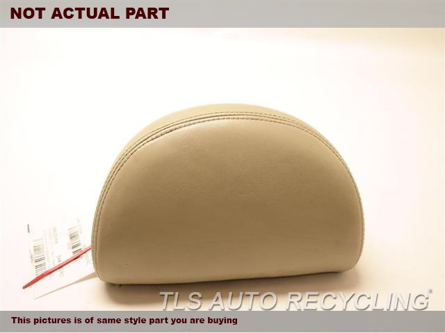 BROWN REAR OUTER LEATHER HEADREST