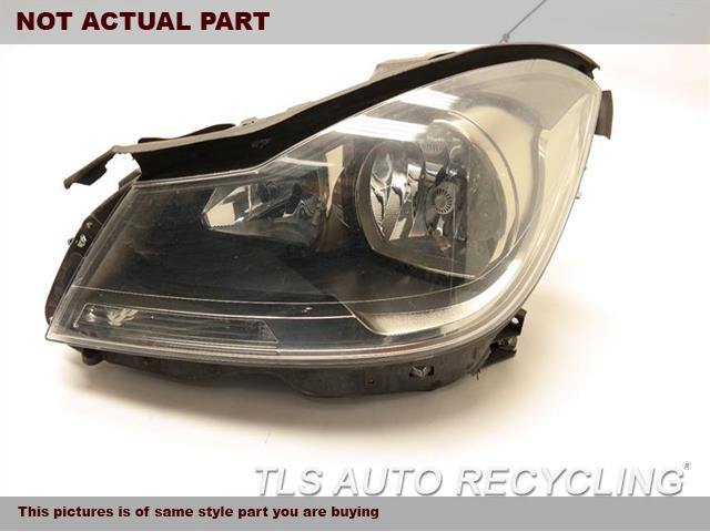 2013 Mercedes C250 Headlamp Assembly. 2048209959       DRIVER SIDE HALOGEN HEADLAMP