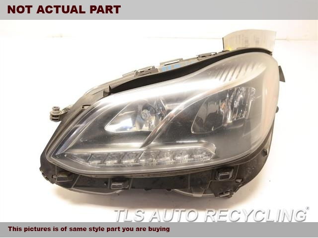 2014 Mercedes E350 Headlamp Assembly. W/O ADAPTIVE, HALOGEN HIGH BEAMLH, LED LOW BEAM HEADLAMP