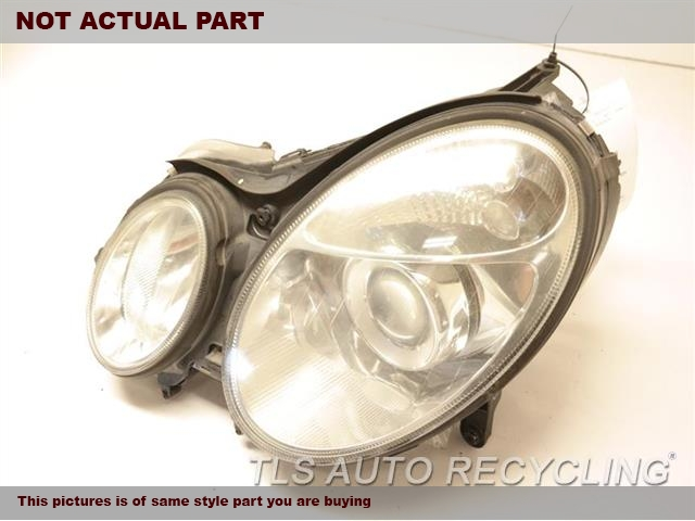 2005 Mercedes E55 Headlamp Assembly. BROKEN TAB, HAS SMALL CRACK (HOLE)LH,211 TYPE, E55, BI-XENON (HID) NIQ