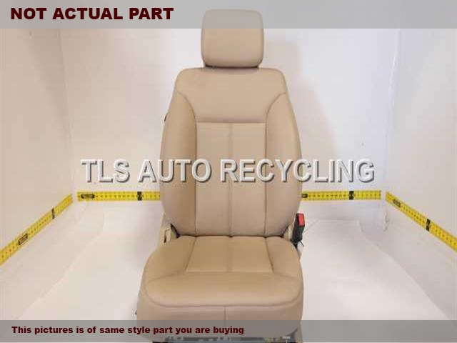 2007 Mercedes GL450 Seat, Front. 1649100446 1649108647 2519703650TAN PASSENGER FRONT LEATHER SEAT