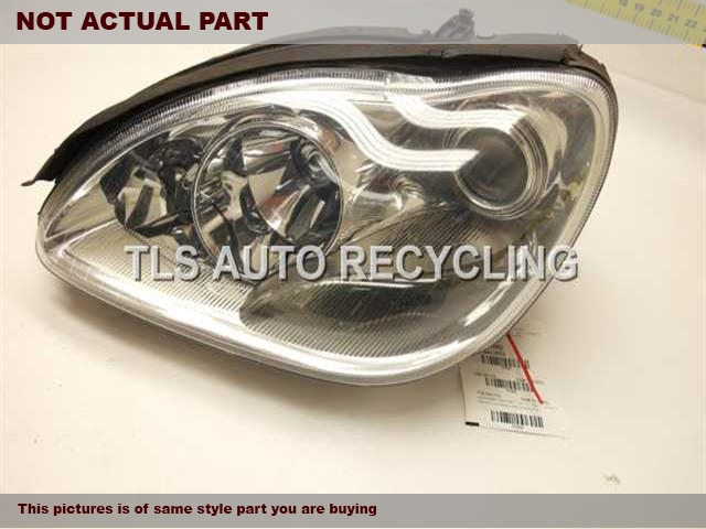 2006 Mercedes S430 Headlamp Assembly. LOWER TAB DAMAGE LH,4DR,220 TYPE, S430, BI-XENON HID