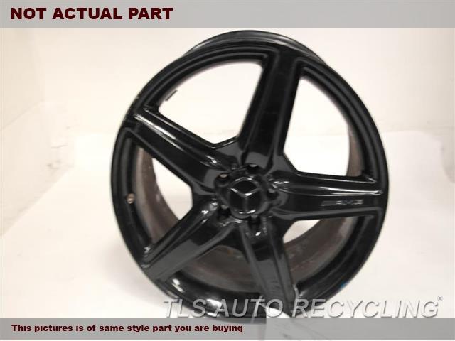 20X8-1/2 BLACK 5 SPOKE WHEEL