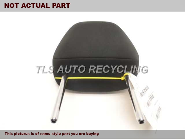 BLACK DRIVER FRONT CLOTH HEADREST