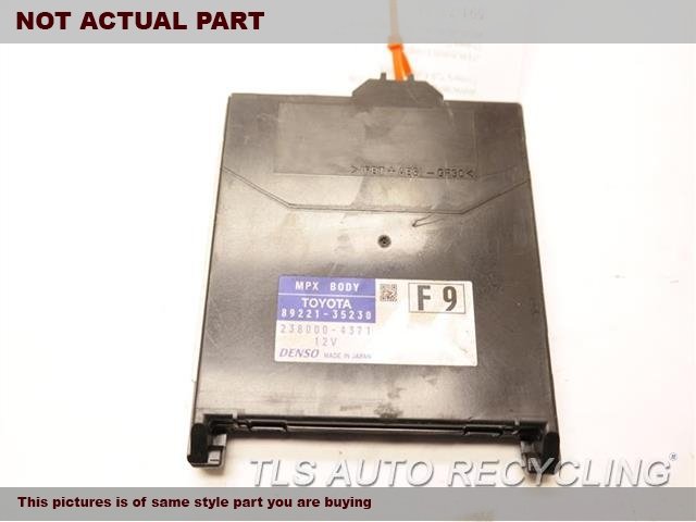 2016 Toyota 4 Runner Chassis Cont Mod. COMPUTER89221-35230 MULTIPLEX NETWORK BODY