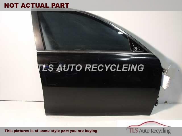 2011 Toyota Camry Door Assembly, Front. W/O SIDE VIEW MIRROR AND TRIM PANEL. SCRATCHESGRAY PASSENGER FRONT DOOR SHELL