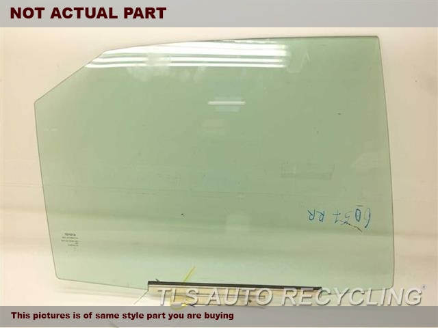 2017 Toyota Camry Door Glass, Rear. PASSENGER REAR DOOR GLASS