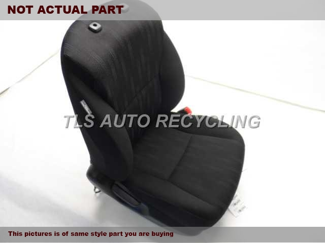 2013 Toyota Corolla Seat, Front. BLACK PASSENGER FRONT CLOTH SEAT
