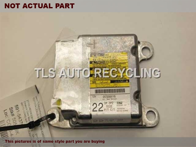 2012 Toyota Corolla Chassis Cont Mod. 89170-02A60 AIR BAG MODULE