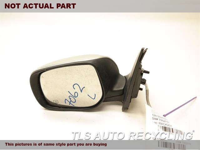 2013 Toyota Corolla Side View Mirror.  87909-02A81  PAINT CHIPPING ON THE UPPER SECTION  SCRATCHES ON THE FRONT SECTIONBLACK DRIVER SIDE VIEW MIRROR