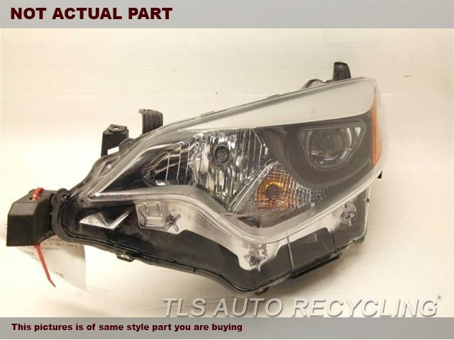 2016 Toyota Corolla Headlamp Assembly. 81150-02E60DRIVER HEADLAMP COMPLETE