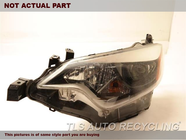 2014 Toyota Corolla Headlamp Assembly. 81150-02E60  ONE UNREPAIRABLE TABDRIVER HEADLAMP COMPLETE