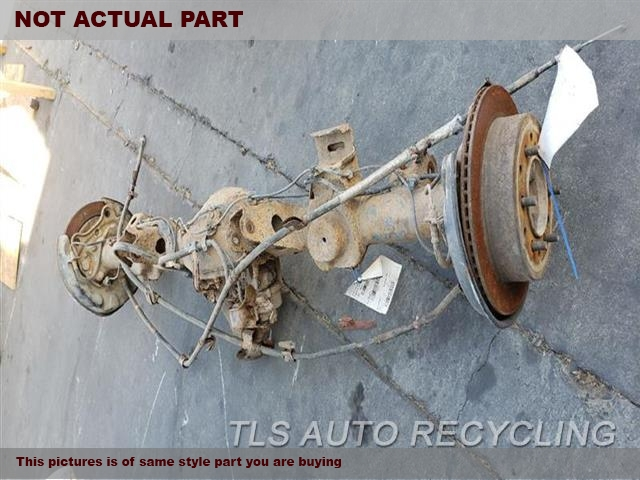 2007 Toyota FJ Cruiser Rear axle assembly. DIFFERENTIAL LOCK, 3.727 RATIO (AT)