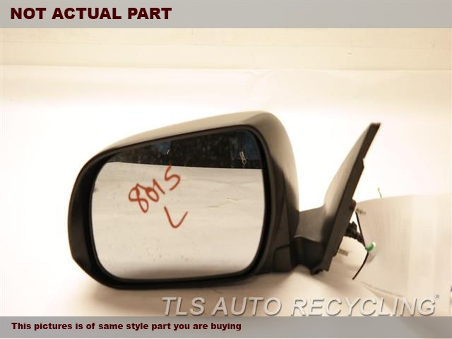 2011 Toyota Highlander Side View Mirror. PAINTLH,GRY,PM,POWER, (FOLDING), L