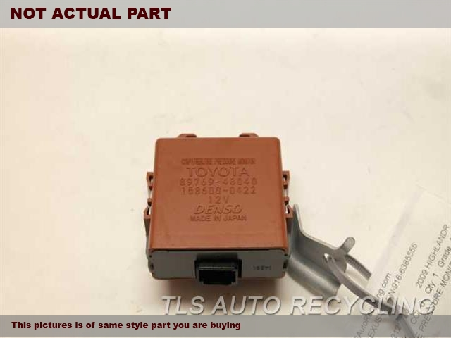 2012 Toyota Highlander Chassis Cont Mod. COMPUTER89769-48040 TIRE PRESSURE MONITOR