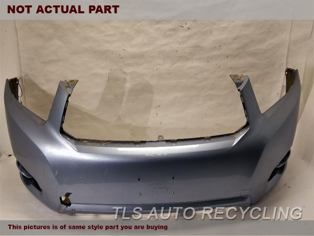 2008 Toyota Highlander Bumper cover Front. RH,HAS DEEP SCUFF OUTER EDGE LOWER SECTION6S1,SLV,BASE,FRONT BUMPER COVER