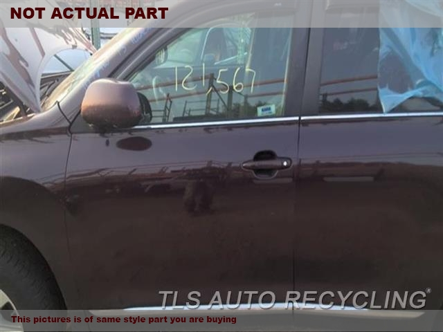 2008 Toyota Highlander Door Assembly, Front. FRONT UPPER SECTION EDGE BENT FRONT CENETER HAS DING 5E1,5P1,LH,SLV,PW,TINT,6/07,BASE
