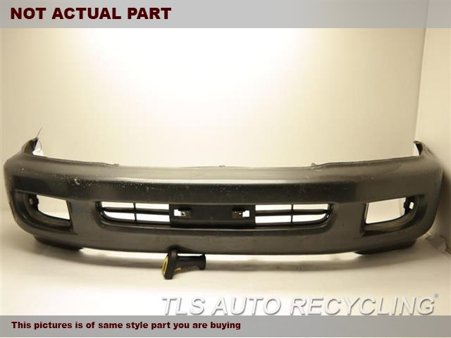 1999 Toyota Land Cruiser Bumper cover Front. SCRATCHES ON OUTER EDGES COLOR FADEDGRAY FRONT BUMPER COVER