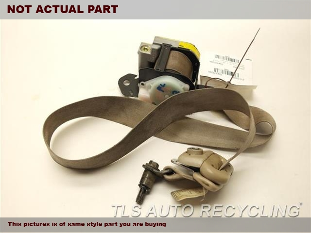 2001 Lexus LX 470 Seat Belt front. TAN,(BUCKET), DRIVER, RETRACTOR