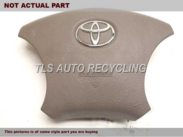 2004 Toyota Land Cruiser Air Bag. 45130-60321-B0  BLACK STEERING WHEEL AIR BAG
