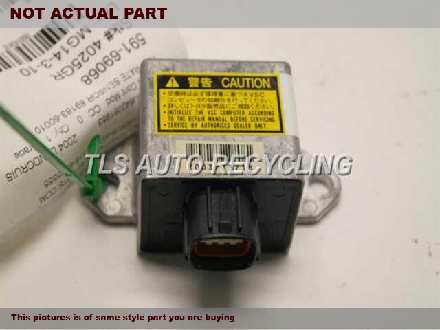 2004 Toyota Land Cruiser Chassis Cont Mod. 89180-60070 YAW RATE SENSOR