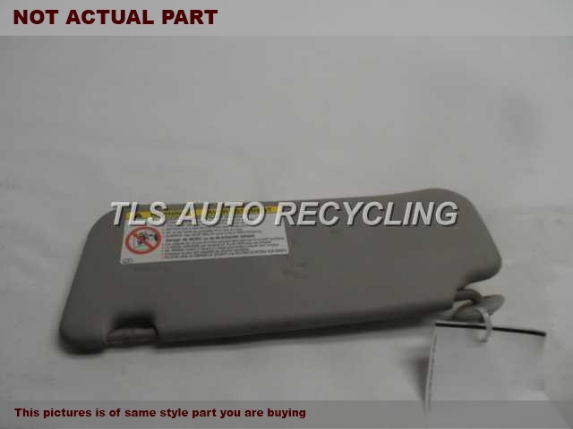 2005 Toyota Matrix Sun Visor/Shade. 74320-02610-B0  GRAY DRIVER SIDE SUN VISOR