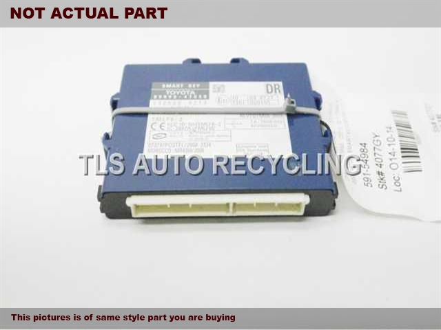 2010 Toyota Prius Chassis Cont Mod. 89990-47050 SMART KEY COMPUTER