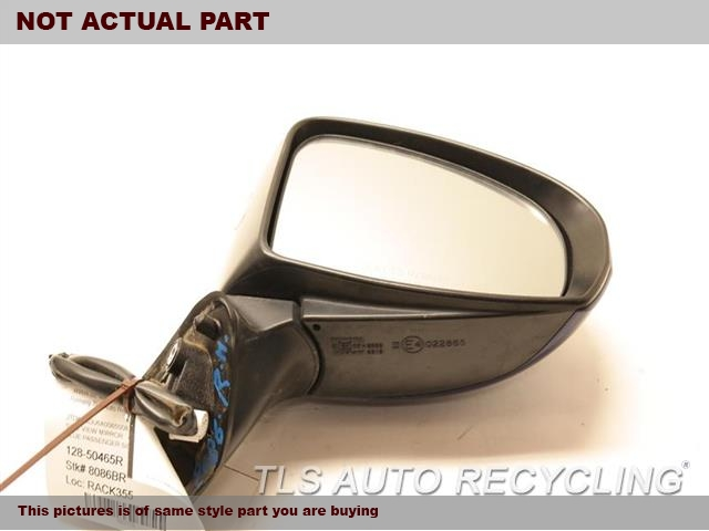 2010 Toyota Prius Side View Mirror. OUTER EDGE HAS DEEP SCRATCH RH,WHT,PM,POWER, R.