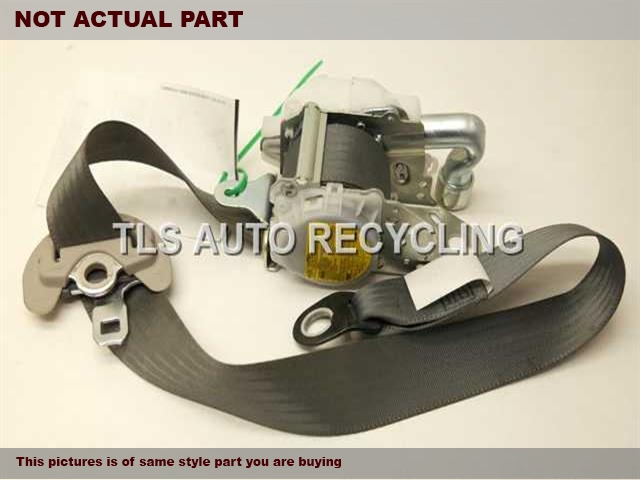 2010 Toyota Prius Seat Belt front. GRY,4DR,(BUCKET), DRIVER, RETRACTOR