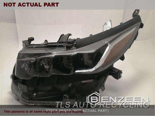 2018 Toyota Prius Headlamp Assembly. HUGE HOLE IN HOUSING, LH,PRIUS PRIME (VIN FP, 7TH AND 8TH