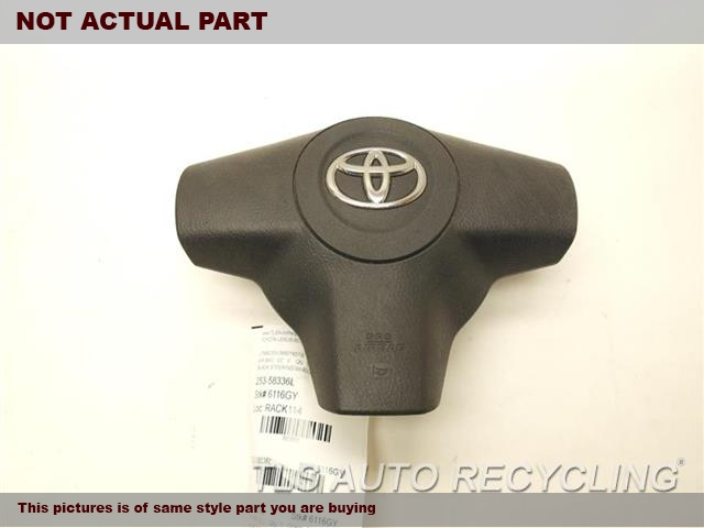 2007 Toyota RAV 4 Air Bag. 45130-42160-B0BLACK STEERING WHEEL AIR BAG