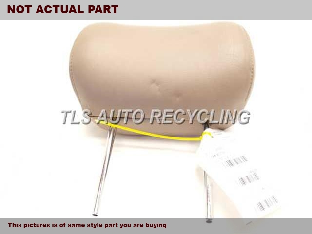 GRAY REAR CENTER HEADREST LEATHER