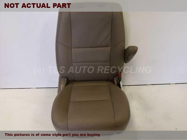2003 Toyota Sequoia Seat, Front. LOWER OUTER EDGE NORMAL WEAR UPPER OUTER EDGE NORMAL WEAR 71430-0C120-B0  71410-0C100-B0GREY PASSENGER FRONT LEATHER SEAT