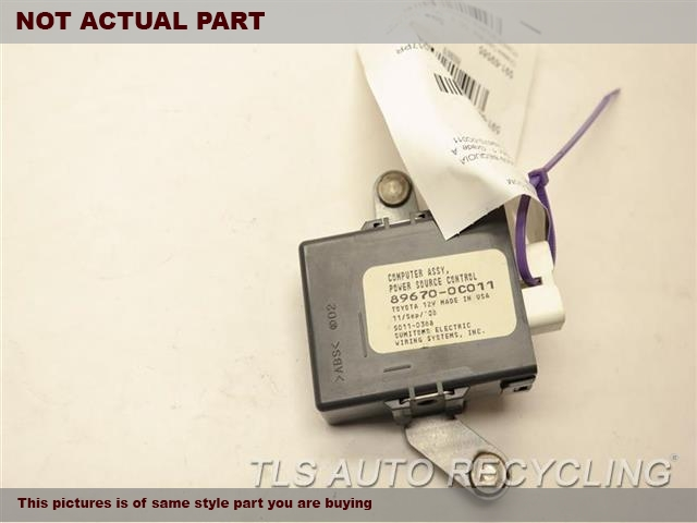 2008 Toyota Tundra Chassis Cont Mod. POWER SOURCE CONTROL 89670-0C011