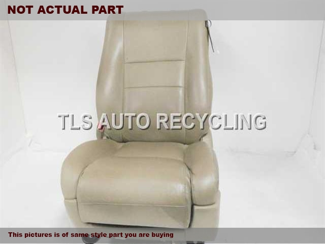 GRAY DRIVER FRONT LEATHER SEAT