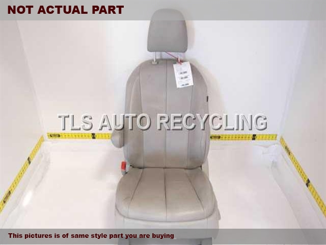 GRAY LEATHER DRIVERS FRONT SEAT