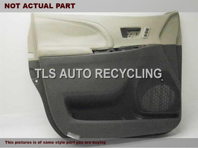 2011 Toyota Sienna Trim Panel, Fr Dr. GRAY LEATHER PASSENGER  DOOR PANEL
