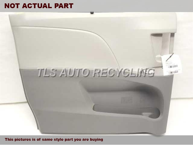 2011 Toyota Sienna Trim Panel, Rr Dr. GRAY LEATHER PASSENGER DOOR PANEL