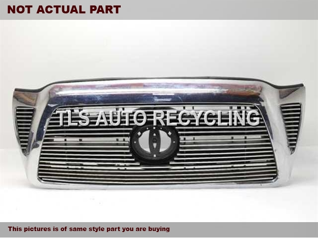 2009 Toyota Tacoma Grille. TWO DAMAGE TAB CHROME BLACK GRILLE 53100-04360