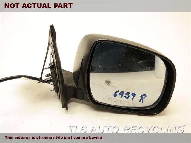 2006 Toyota Tacoma Side View Mirror.  87910-04170BLACK PASSENGER SIDE VIEW MIRROR