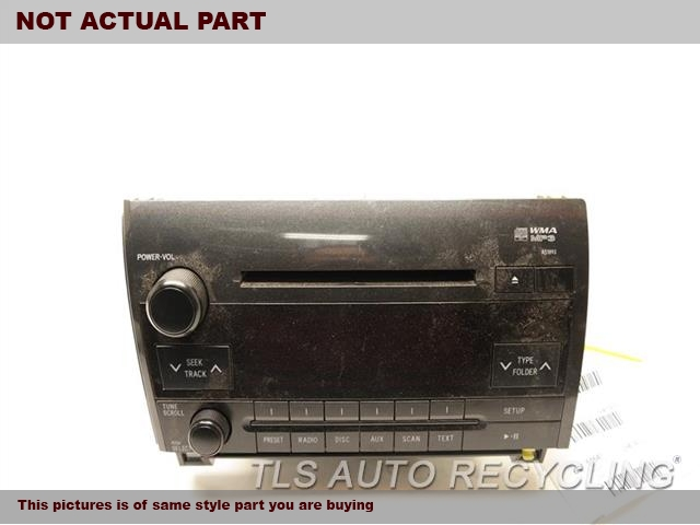2011 Toyota Tundra Radio Audio / Amp. FACE ID A51893     86120-0C290DISPLAY AND RECEIVER, (AM-FM-CD)