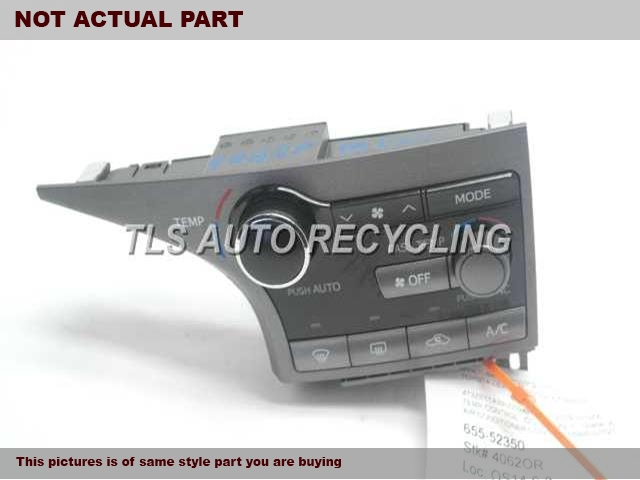 2012 Toyota Venza Temp Control Unit. TEMPERATURE CONTROL UNIT