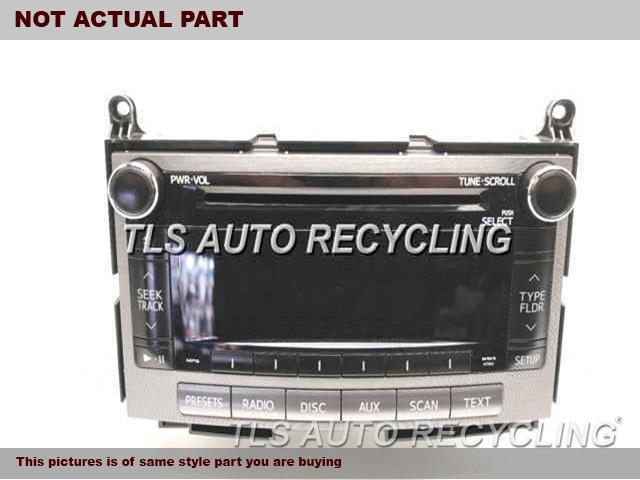 2012 Toyota Venza Radio Audio / Amp. RECEIVER, (AM-FM-CD), W/O NAVIGATIO