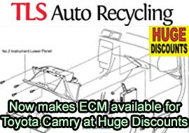 TLS Auto Recycling Now makes ECM available for Toyota Camry at Huge Discounts
