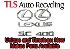 The Lexus SC 400 Unique and Timeless: TLS Auto Recycling Now Makes Parts Available for Lexus SC 400